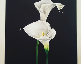 Calla Lilly Acrylic Painting on Canvas