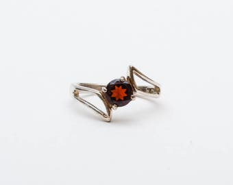 Use Code NEXT0RDER to get 10% off+ Free Shipping Garnet Ring, Sterling Silver Ring, Garnet Stone,  Garnet Jewelry, January Birthstone