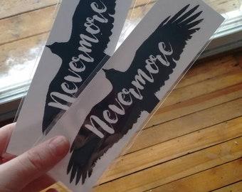 Nevermore bookmark - the raven