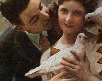 Lovers pair with pigeons.