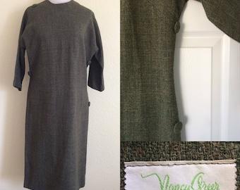 1960s green dress by Nancy Greer New York!