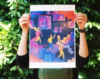 SALE (damaged) - Harry Potter art print - A3 297 x 420