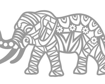 Tribal Elephant Decal- Elephant Vinyl Decal- Elephant Decorative Decal- Car/Wall