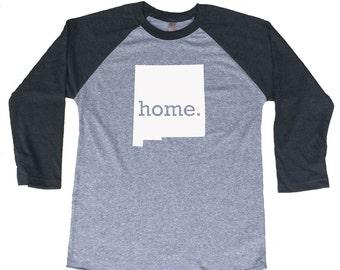 Homeland Tees New Mexico Home Tri-Blend Raglan Baseball Shirt