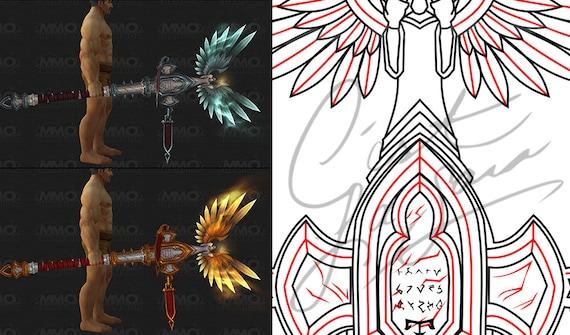 Cosplay pdf vector pattern blueprint world of warcraft holy cosplay pdf vector pattern blueprint world of warcraft holy priest staff legion artifact weapon malvernweather Gallery