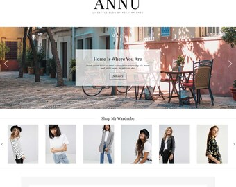 "Wordpress Theme ""ÄNNU"" | Responsive Magazine Style Premade Wordpress Design Ecommerce Woocommerse Website Shop"