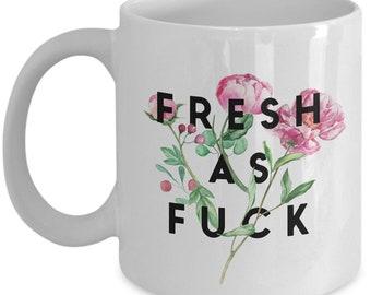 Cursing Coffee Mug Floral