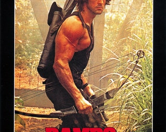 Rambo: First Blood Part II (1985) Sylvester Stallone movie poster reprint 19x12.5 inches