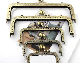 1 PCS, Various Width Bronze Sew in Curved Kiss Clasp Lock Purse Frame, K490