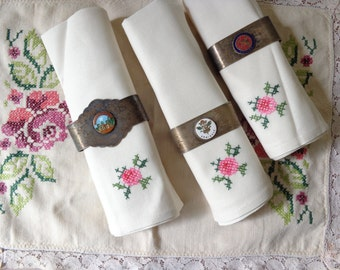 VIntage Collection of Silverplated Napkin RIngs - Mudgee - Armidale - Glen Innes