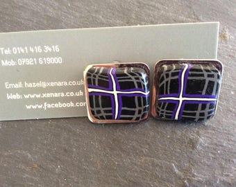 Scottish cufflinks - Tartan cufflinks - Scottish gift