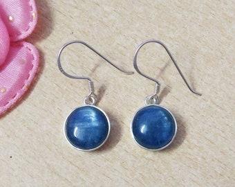 NATURAL BLUE KYANITE Gemstone Studded In Solid 925 Sterling Silver Earrings, Handmade Dangle Earrings, February & March Birthstone