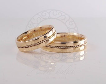 wedding bands rings , gold precious handcrafted jewelry