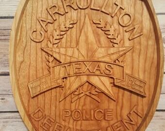 Carrollton Police Department Plauque