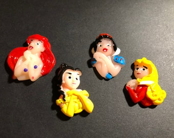Disney Princess Embellishments 4pcs   AO25