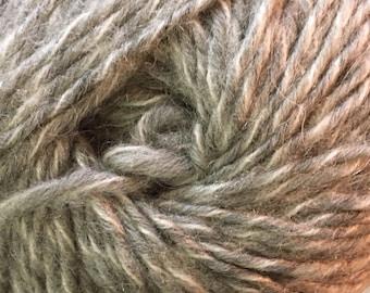 100 Gram Treisur Intrigue #939 Wool Mohair Blend Yarn Grey White 184 yards