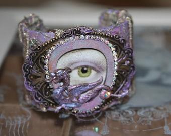 Dragon/Eye/Artist Designed Bracelet/Cuff/Khalessi/Unique/Just One