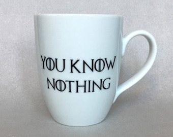 Game Of Thrones You Know Nothing Ceramic Mug