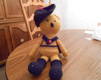 New HANDMADE Crocheted Puss in Boots