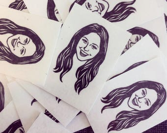 Custom portrait Personalized gift Temporary tattoos / bachelorette party unique gift favor party wedding favors bride bridesmaid bar mitzvah