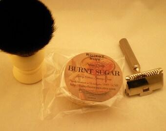 BURNT SUGAR Premium Tallow Shaving Soap SAMPLE