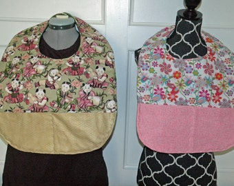 Adult bibs L or XL, clothing protector, cover,  1 of each available
