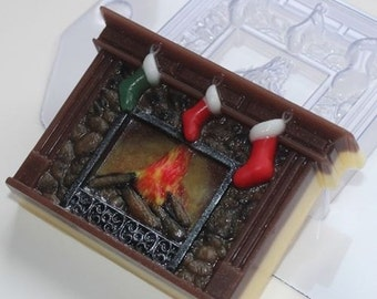 Fireplace - plastic soap mold soap making soap mould molds soap mold