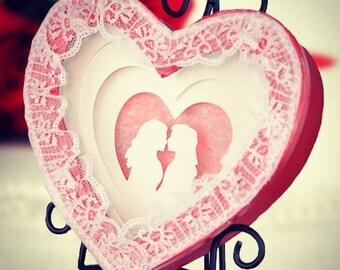 Illuminated Valentine Heart Gift