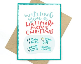hallmark movie christmas - funny holiday card