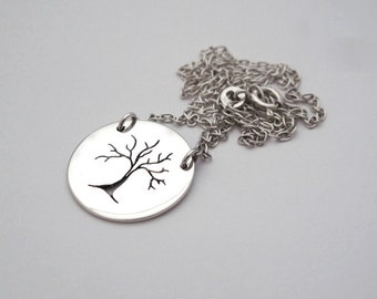 Tree Pendant, Tree of Life Necklace, Pierced Tree Design, Necklace, Sterling Silver, Forest Jewelry Forest Jewellery Nature Inspired Jewelry