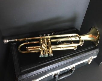 Great Vintage Conn 20B Trumpet, Complete Instrument, Original Hardshell Case and Horn Mouthpiece