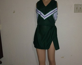 Green Cheerleader Uniform Christmas Halloween Dance Costume