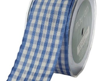 1-1/2-Inch Wide Ribbon, Periwinkle Check, Scrapbooking, Hair Bows, Spring Events Party Supplies, Weddings