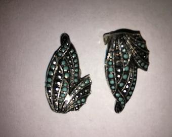 Vintage Steel Cut Earrings Made in West Germany - #114E