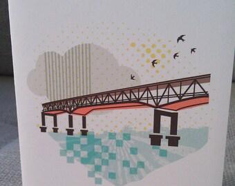 Marquam Bridge Portland Notecards