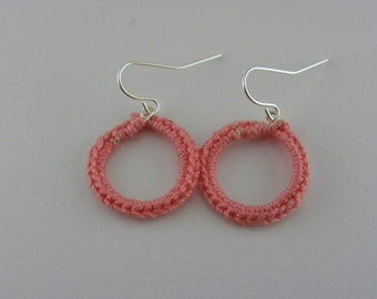 Small Hand Crocheted Earrings