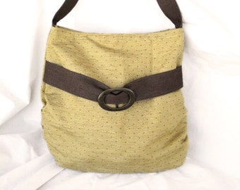 20% OFF - Chic butter yellow pleated hobo / everyday bag / purse/ handbag , Fabric bag , Free shipping