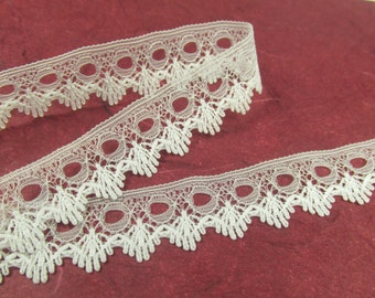 Lexy Off White Eyelet Dainty Narrow Lacy Scalloped Trim by the yard
