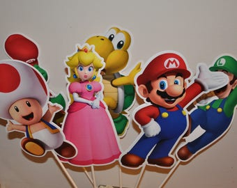 Mario Large Centerpiece toppers sets of 6