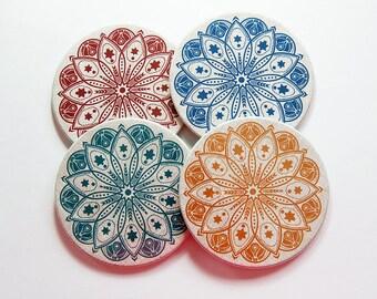 Mandala Coasters, Drink Coasters, Hostess Gift, Tableware, cork backing, Mandala, Oriental, Housewarming Gift, Wine Accessories (7407)