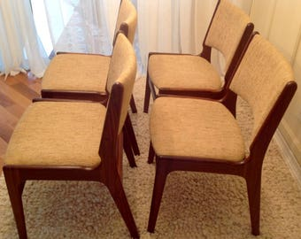 Four Mid Century Modern Erik Buch Rosewood Dining Chairs