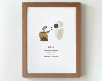 Illustration, Print, Wall-E, Tutticonfetti,  Wall art, Art decor, Hanging wall, Printed art, Decor home, Gift idea, Andrew Stanton film