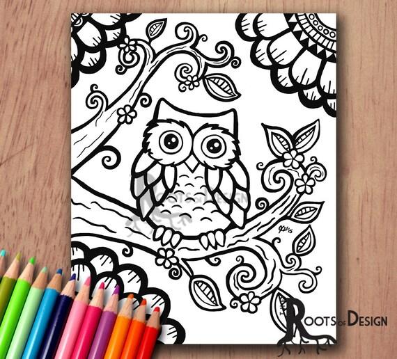 unique coloring pages owl cartoon - photo#48