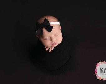Sailor Bow, Felt, Bow, Baby Headband, Schoolgirl Bow, Baby Girl Headband, Newborn Baby Bows, Nylon Headband, Girls Hair Clips, Headband