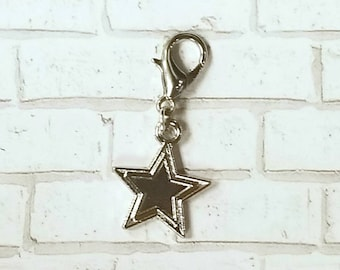 Double Lined Star Planner Charm - Journal Accessories - Traveler's Notebook Jewelry - Space - Galaxy - Universe - Celestial - Astrology