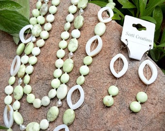 Lily Pad - Necklace and Earrings