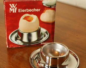 vintage wmf [new boxed] stainless steel egg cups
