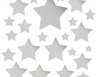 Star Wall Stickers In Silver