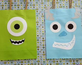 Set of 12-Monster Party Favor bags