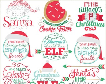 Christmas Clipart Christmas Titles -Personal and Limited Commercial Use- Arrow Holiday Clip art